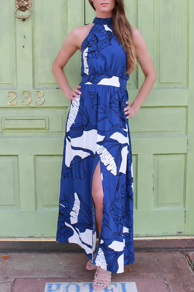 Blue Cosoblanca Dress - ARUZE BOUTIQUE