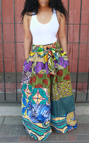 Mult-Color Maxi Skirt - ARUZE BOUTIQUE