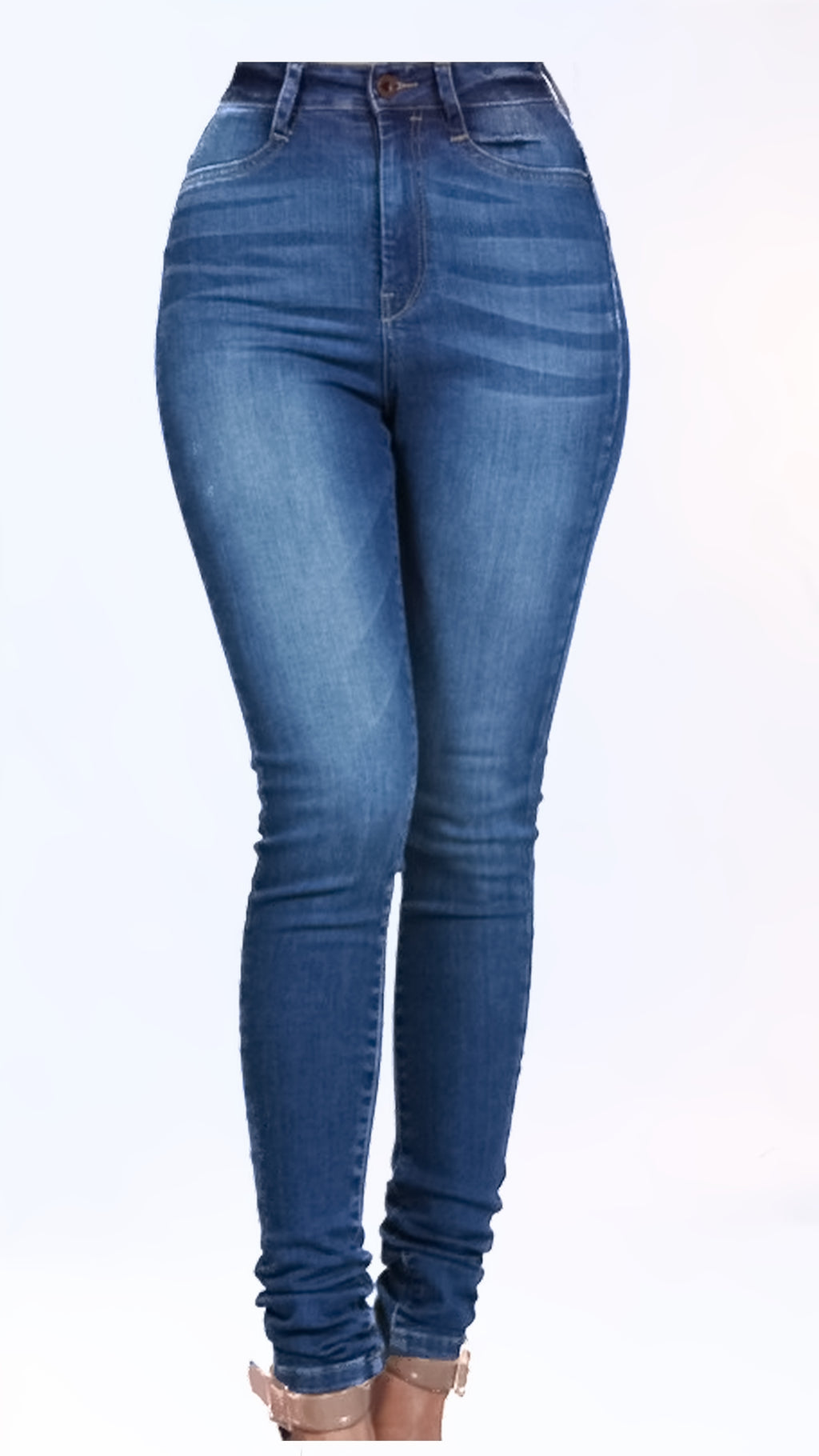 Classic High Waist Skinny Jeans - ARUZE BOUTIQUE