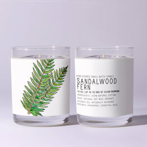 Sandalwood Fern - Just Bee Candle 7 oz