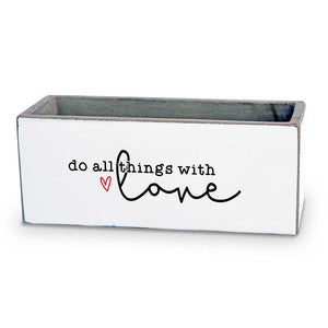 Do All Things With Love Succulent Pot