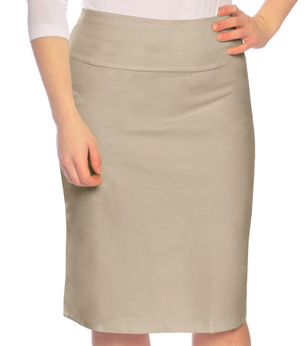 Basic Cotton Pencil Skirt Style 1434 - The Skirt Boutique