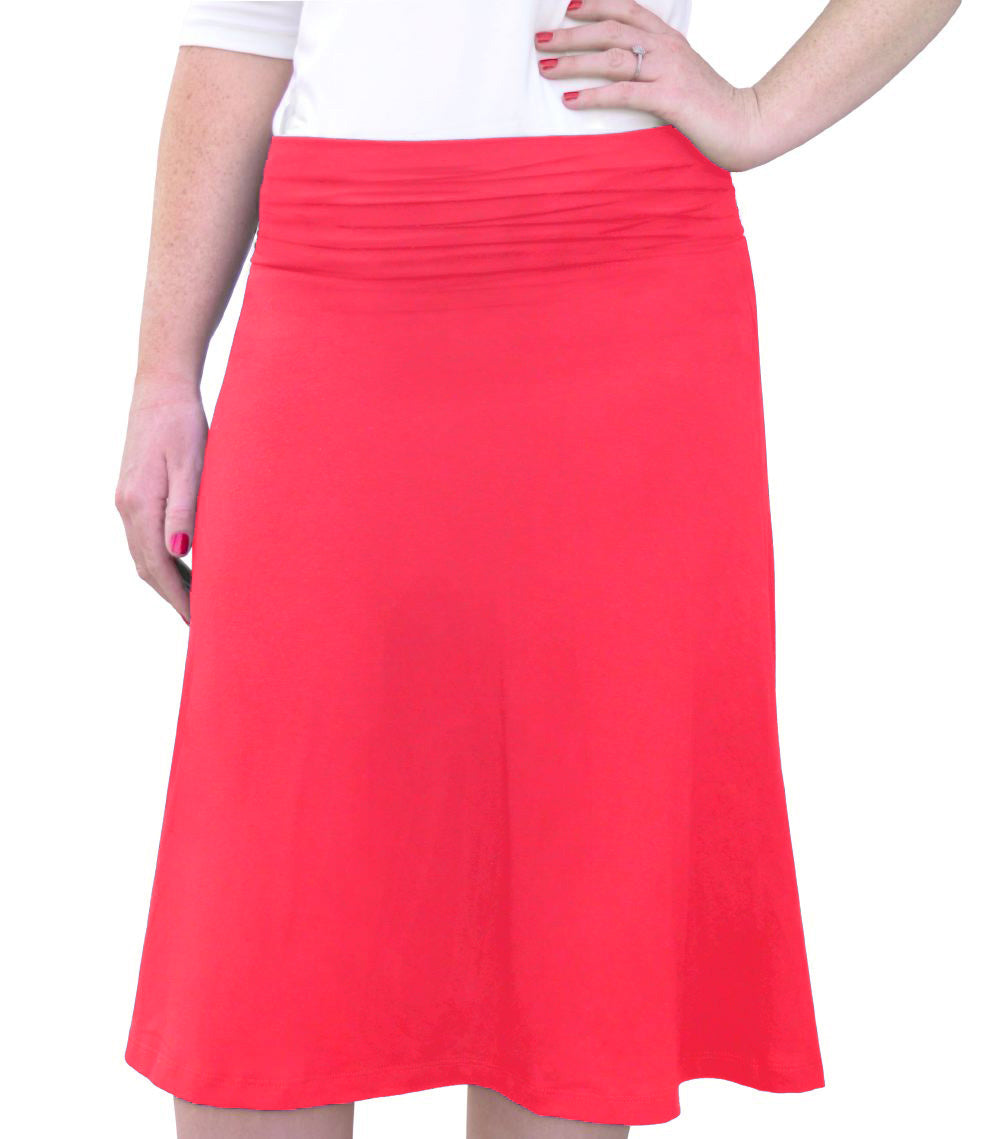 Knee Length A-line Skirt Style 1464 - The Skirt Boutique
