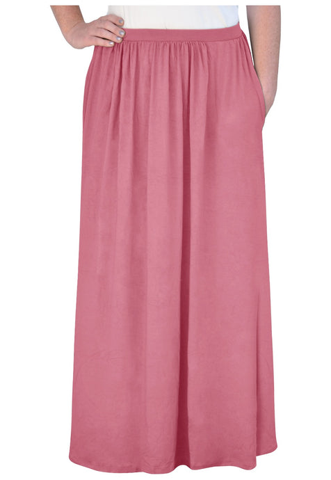 Flowing Gathered Maxi Skirt Style 1465 - The Skirt Boutique