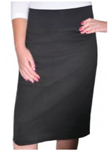 Pencil Skirt with Cotton Spandex Waistband #1806 - The Skirt Boutique