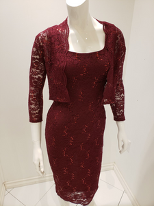 Sequin Pencil Dress with Bolero 25762 - The Skirt Boutique