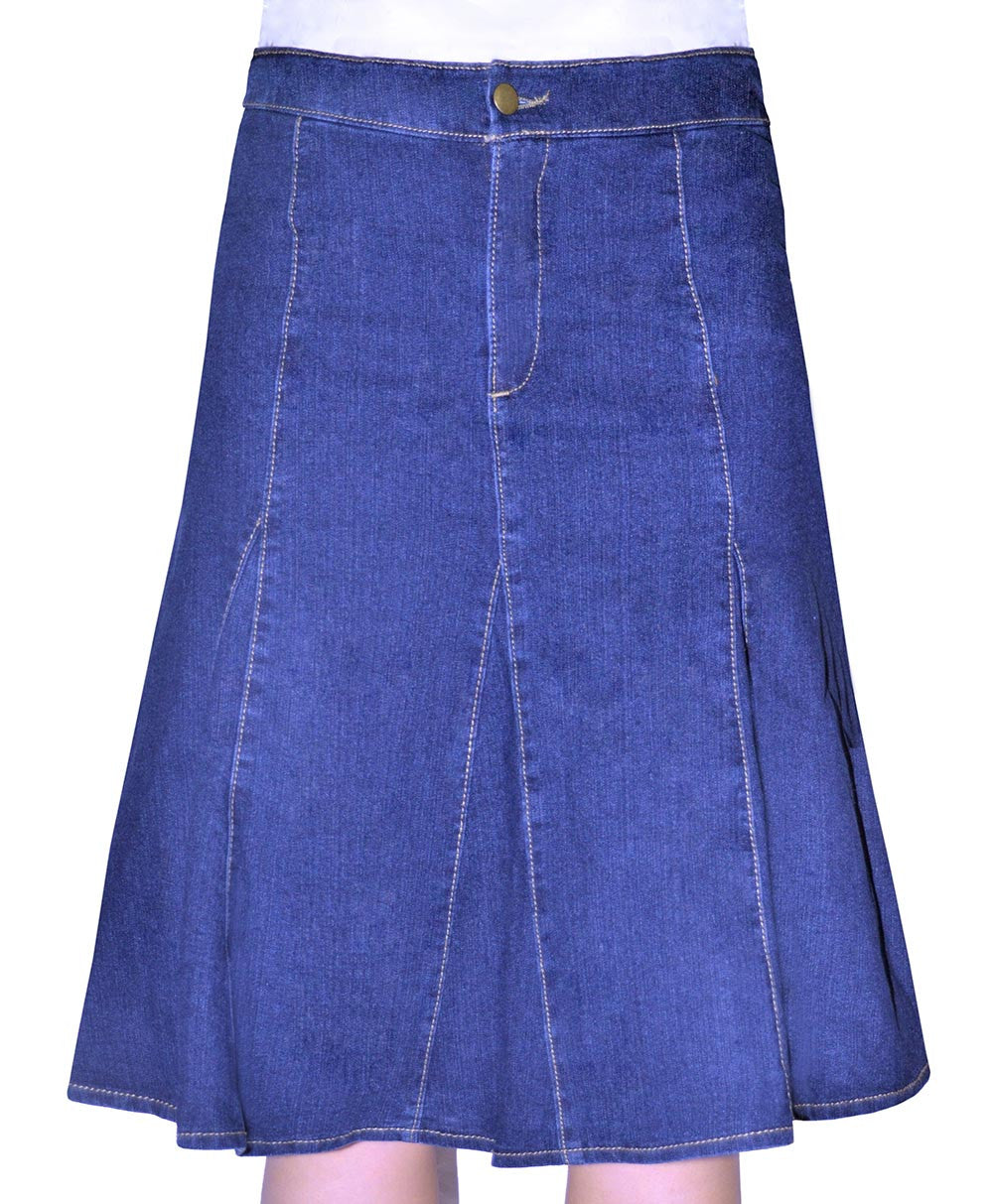 Womens Denim Skirt Flared style 1496 - The Skirt Boutique