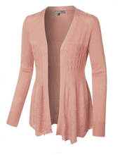 Cardigan Style 3353 in Blush Pink or Rust