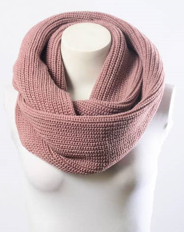 Cowl Neck Infinity Scarf-Mauve 3745 - The Skirt Boutique
