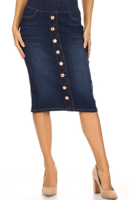 Button Skirt for Women Style 77803
