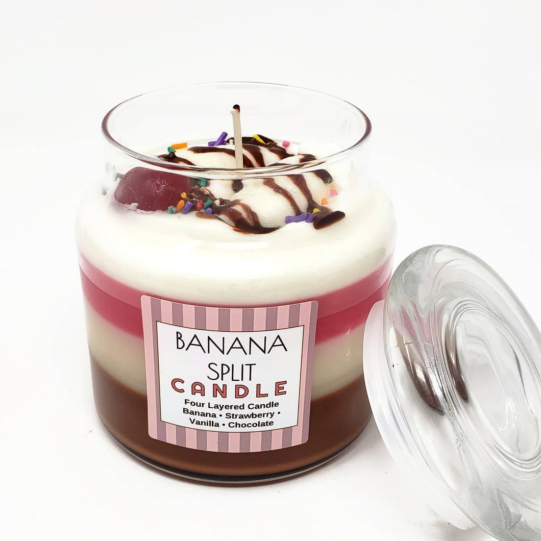 Scented 4 Layer Banana Split Candle