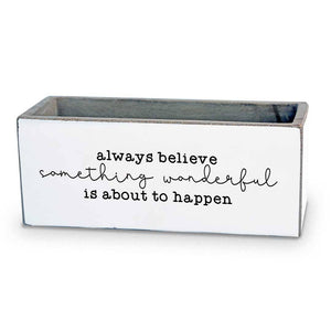 Always Believe Succulent Pot