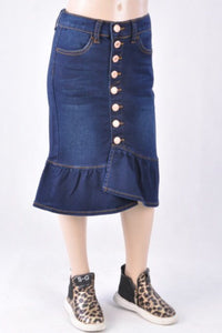 Button Skirt for Girls Style 77531