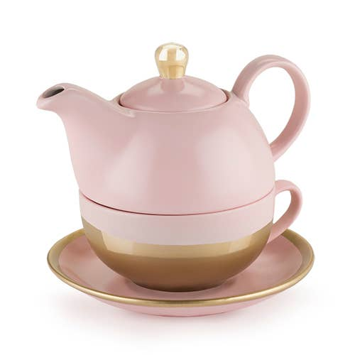 Addison Pink and Gold Tea for One 691110