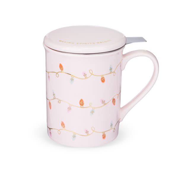Annette Lights Pink Ceramic Tea Mug 830990 - The Skirt Boutique