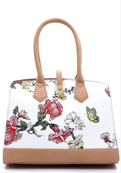 Flower Print Satchel 00321