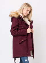 Fur Hooded Parka Jacket Style 3194