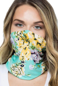 Floral Fashion Tube Face Mask Style ABB1
