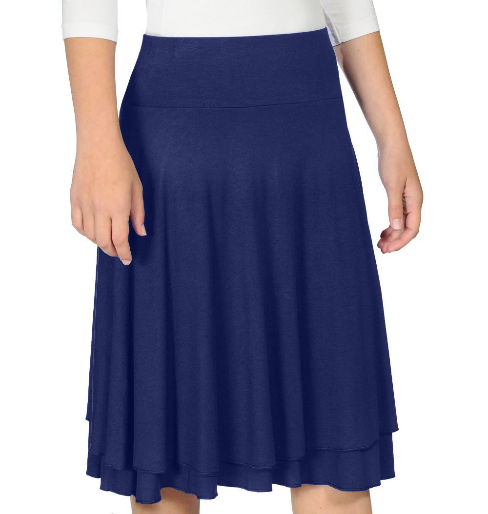 Double Layer Girls Skirt style 1458 - The Skirt Boutique