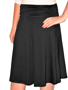 Girls Knee Length Skirt A-line style 1480 with Ruched Waistband - The Skirt Boutique