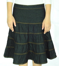 Girls Tiered Denim Skirt style 1481 - The Skirt Boutique