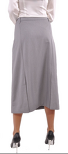 Office Stripe Light Grey - The Skirt Boutique