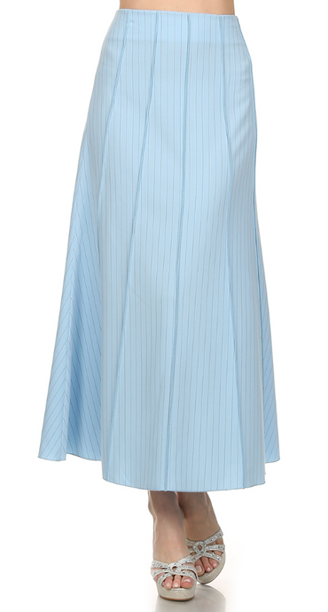Long Office Skirt with Pinstripe design  #766 - The Skirt Boutique