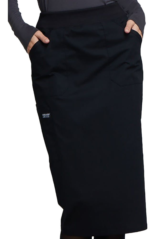 Cherokee Scrub Skirt in Black