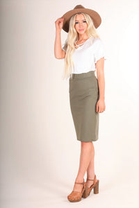 Sage Pontee Skirt Style 2093 - The Skirt Boutique