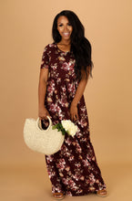Miranda Maxi Floral 23767 in Olive or Burgundy - The Skirt Boutique