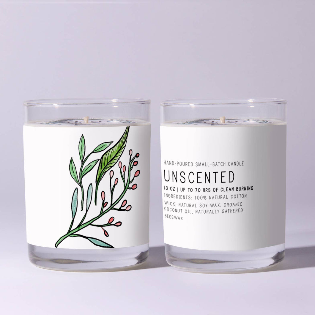 Unscented - Just Bee Candle 7 oz