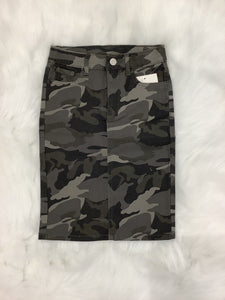Girls Camoflage Denim Skirt Style 77546