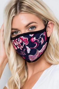 Fuchsia and Black Mask Style AM4F-1NV