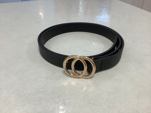 Double Circle Meta Buckel Leather Belt Style 2218