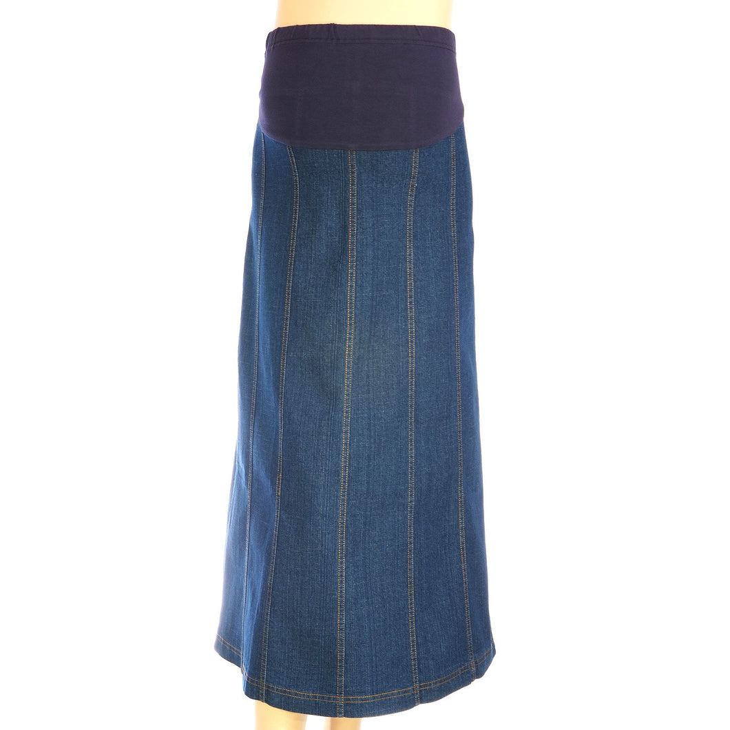 Maternity Panel Denim Skirt - The Skirt Boutique