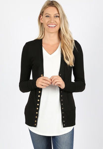 Sweater cardigan with ribbed detail 2039 - The Skirt Boutique