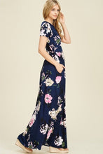 Floral Maxi Dress Style T7828 in Navy - The Skirt Boutique