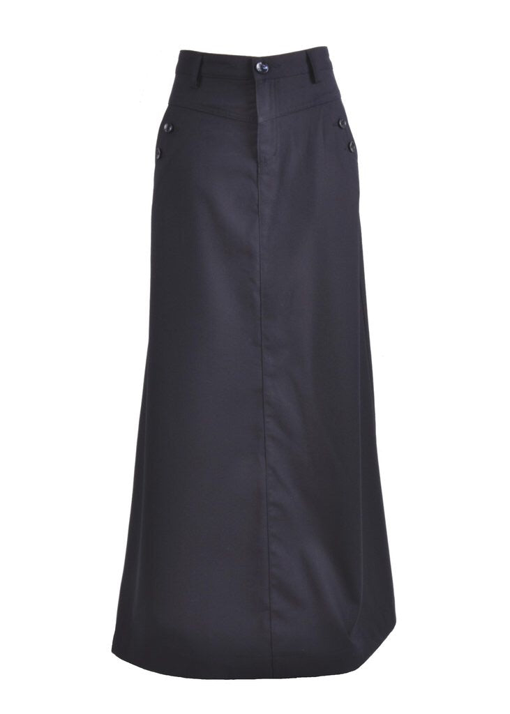 Just Chic Navy Long Skirt Style 0639 - The Skirt Boutique