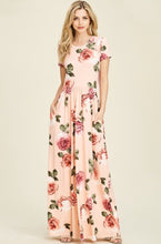 Blush Floral Maxi Dress Style T7828 - The Skirt Boutique