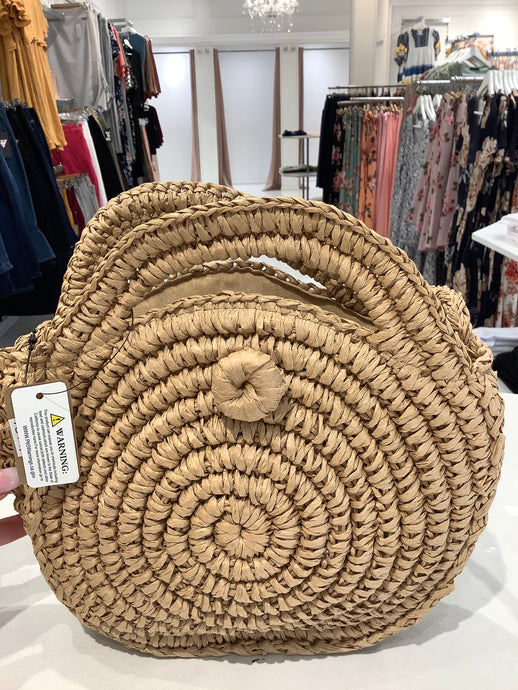 Straw Bohemian Round Cross Body Strap 6184