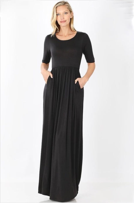 Maxi Dress Style 7011 Plus in Black - The Skirt Boutique