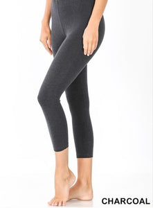 Cotton Leggings Style 1875 in Black or Charcoal