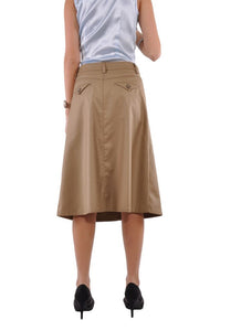 Sleek Chic Midi Skirt Style 0586 in Khaki or Navy - The Skirt Boutique