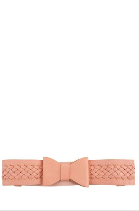 Bow tie Braided Belt Style 1991 in Blush Pink
