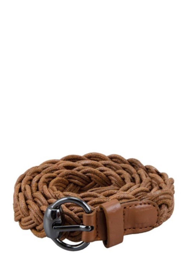 Small Braided Belt Style 1303 in Brown or Black