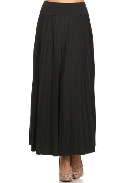 Soft pleated long skirt style 748 - The Skirt Boutique