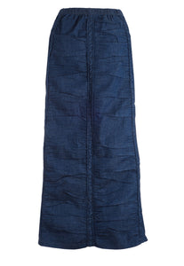 Ruched Denim Skirt Vintage Blue - The Skirt Boutique