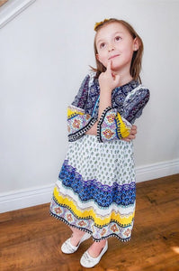 Girls Boho Dress In Mango style 1857 - The Skirt Boutique