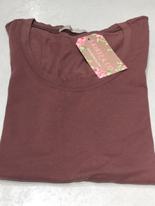 Scoop Neck Tee Style 9663 in Rose Stone
