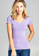 Scoop Neck Tee Style 9663 in Lavender - The Skirt Boutique
